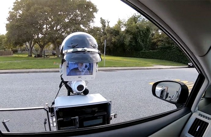 Imagine Getting Pulled Over By This Tablet on a Stick