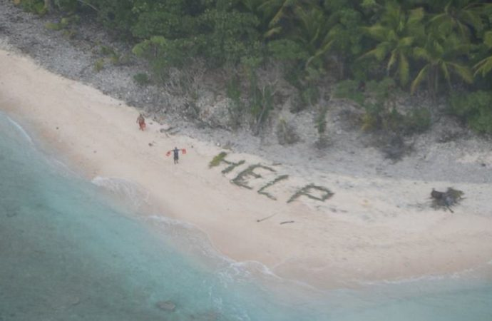 Men Rescued from Remote Pacific Island After Spelling 'Help' in Palm Fronds