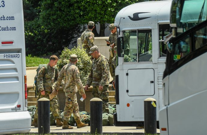 Pentagon disarms National Guard activated in D.C., sends active-duty forces home