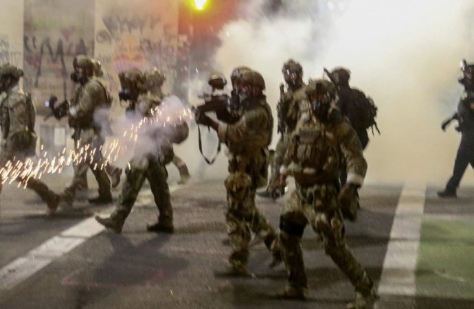 Federal agents in Portland launch tear gas at protesters