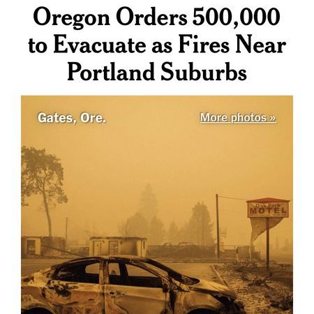 Oregon initially said 500,000 people had been evacuated because of wildfires. The numbers didn't add up — and the state backtracked.